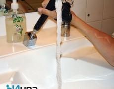 Ручной душ вытягивается