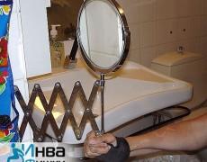 Выдвижное зеркало для ванной