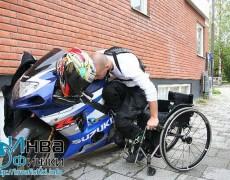 Пересаживание из коляски на мотоцикл