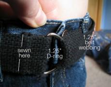 Ремень с липучкой для шейника