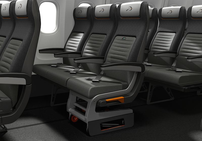 Концепт крісла літака для людей які пересуваються на колясці