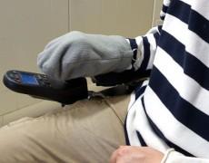 Рука защищена от холода во время управления