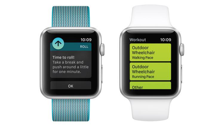 Інтерфейс програми. Зліва нагадування із закликом «Час покататися», праворуч - вибір активності для включення режиму відстеження стану