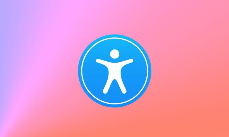 Іконка програми VoiceOver - Людина в синьому колі